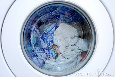 Clothing in washing machine