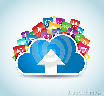 Free Cloud Apps Royalty Free Stock Photography - 28137197