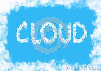 Cloud background Cartoon Illustration