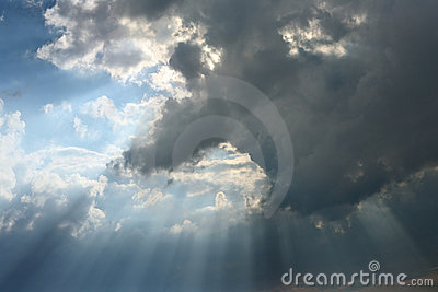 Cloud with beams