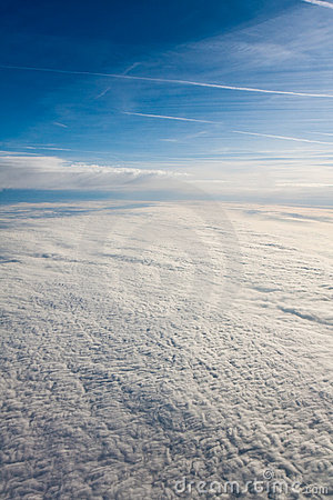 Cloud Blanket Viewed from an Airplane