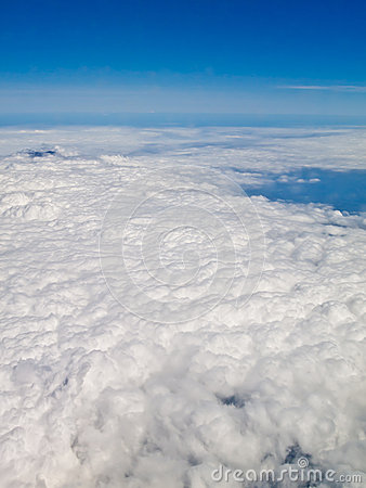 Cloud and blue sky from air plane 2