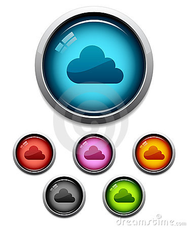 Cloud button icon
