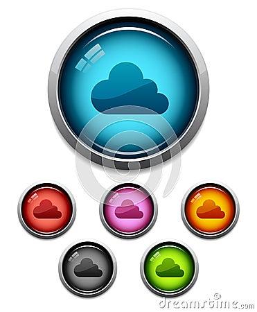 Free Cloud Button Icon Stock Photo - 21773240