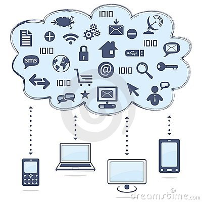 Free Cloud Computing Royalty Free Stock Photo - 21839885