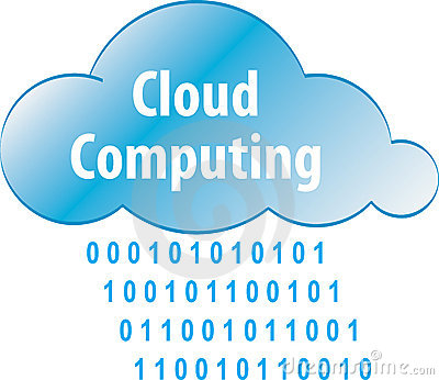 Cloud computing abstract iilustration
