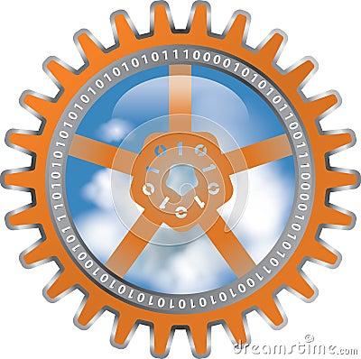 Cloud computing abstract illustration