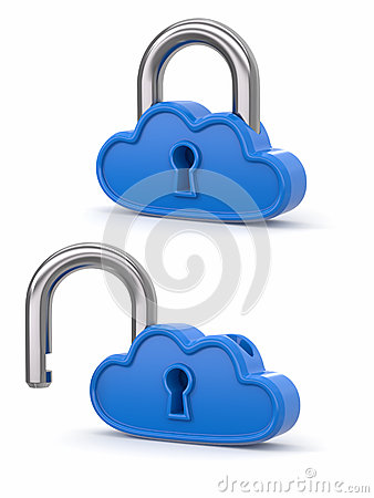 Cloud Computing As Padlock. Security Concept Royalty Free Stock Images - Image: 25602209