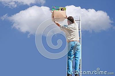 Cloud computing backup and storage concept