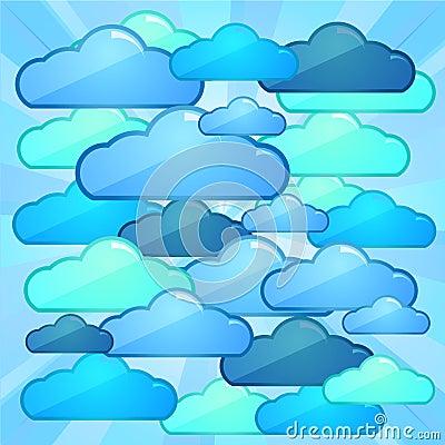 Cloud computing batlle concept