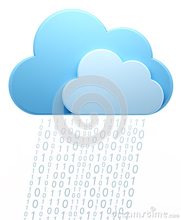 Cloud computing, code rain