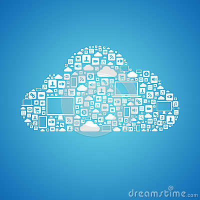 Free Cloud Computing Concept Royalty Free Stock Images - 30484459