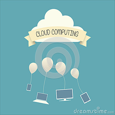 Cloud computing concept infographics