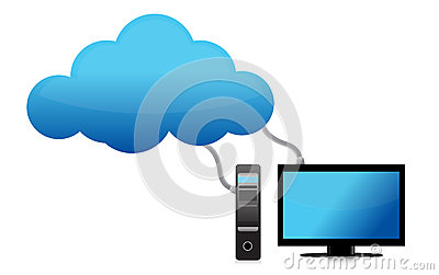 Cloud computing concept severs