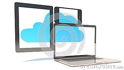 Cloud Computing Concept - Tablet PC, Smartphone, Laptop
