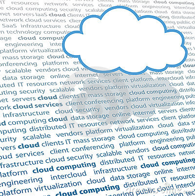 Cloud computing copy space IT text page