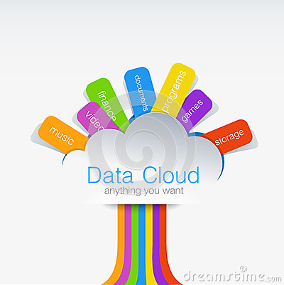 Free Cloud Computing Creative Design Concept Of Data Tr Stock Photos - 35640433