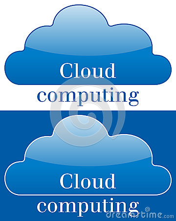 Cloud Computing Icon or Logo