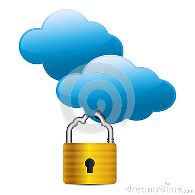 Cloud computing internet security concept