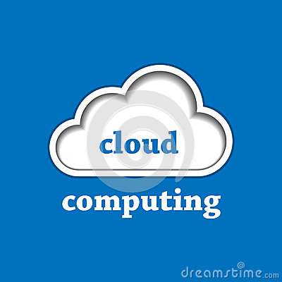 Cloud computing logo template