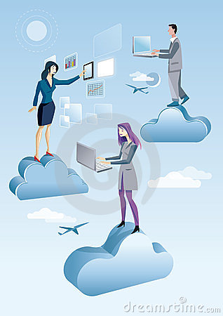 Cloud Computing Men And Woman