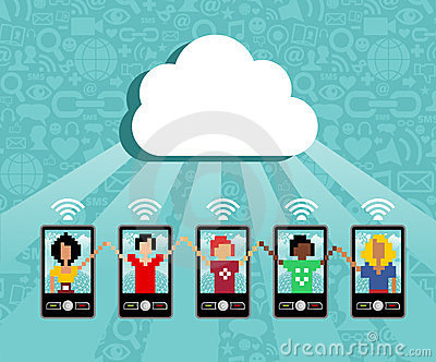 Cloud computing mobile device concept