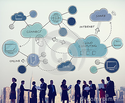 Cloud Computing Networking Connecting Concpet Stock Photo