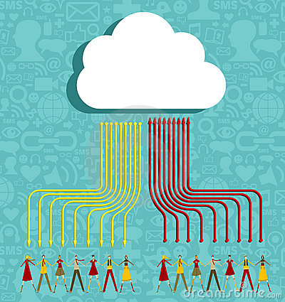 Cloud computing people concept