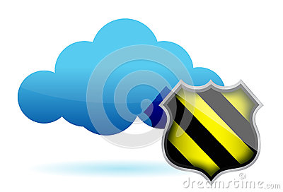 Cloud computing protection illustration