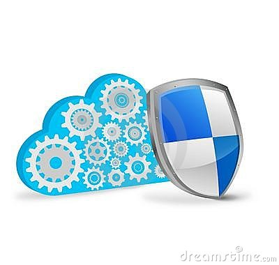 Cloud computing with security shield