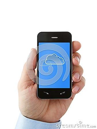Cloud computing on smart phone