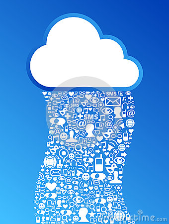 Cloud computing social media network background