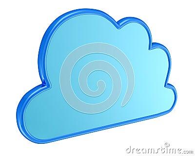 Cloud computing symbol - 3d render