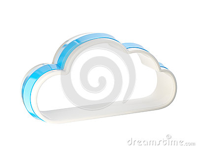 Cloud Computing Technology Icon Emblem Stock Photography - Image: 25436502