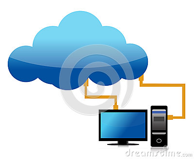 Cloud computing transfer to computer