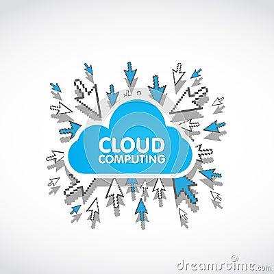 Cloud computing web concept