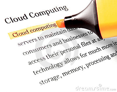 Cloud computing word