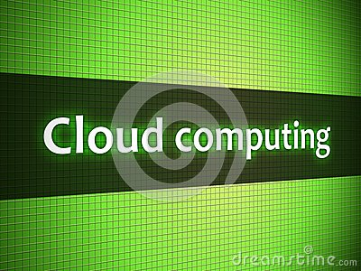 Cloud computing words on display