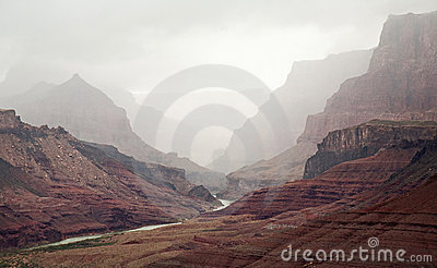 Cloud Covered Grand Canyon