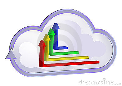Cloud curve symbol and graphic chart