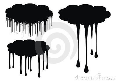cloud drips vector illustration