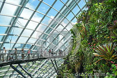 Garden By The Bay Cloud Forest cloud forest dome at gardenthe bay editorial photo - image