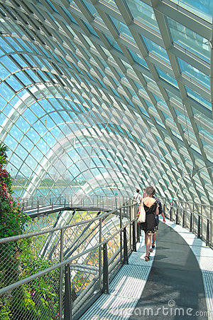 Cloud Forest, Gardens by the Bay Editorial Stock Photo