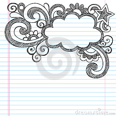 Cloud Frame Border Sketchy Doodle Vector Illustrat