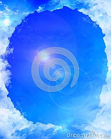 cloud frame with sunlight stock photos image 4881083
