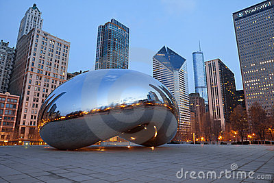 Cloud Gate Editorial Image
