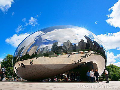 Cloud Gate (The Bean) Editorial Photography