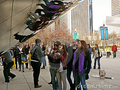 CLOUD GATE CHICAGO Editorial Stock Photo