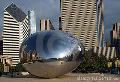 Cloud Gate  in Chicago, Illinois Editorial Image