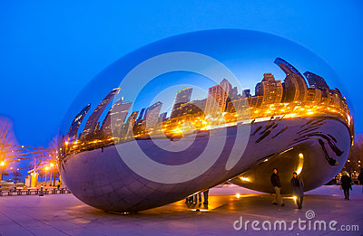 Cloud Gate Editorial Stock Image